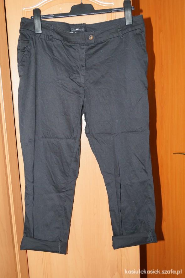 Spodnie H&M czarne chinosy 44 46