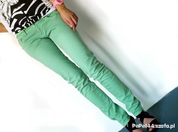 Spodnie MIĘTOWE RURKI JAK NOWE