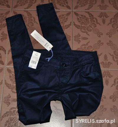 Spodnie GRANAT WOSKOWANE JEANSY RURKI 40 F&F WAXED