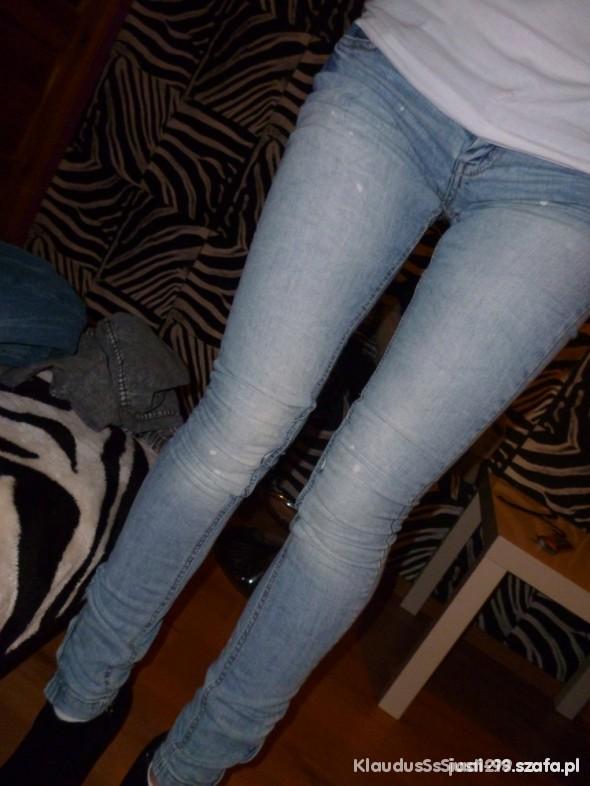 Spodnie ZIP rurki BERSHKA 34