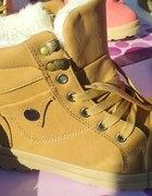 beżowe zimowe buty trapery workersy 38 39 40