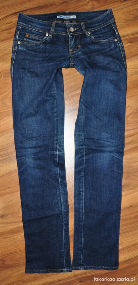 Spodnie TERRANOVA rurki jeans biodrówki 2 PARY XS S
