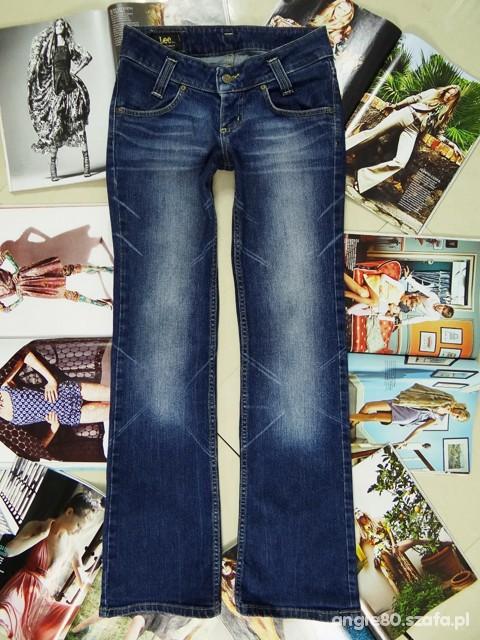 Spodnie LEE Przecierane proste jeansy 36 38