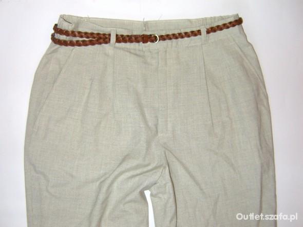 Spodnie szare cygaretki 42 haremki beż