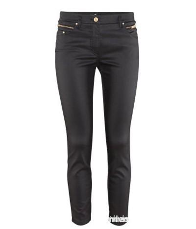 Spodnie Woskowane spodnie z H&M