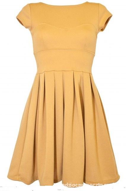 Suknie i sukienki Musztardowa sukienka