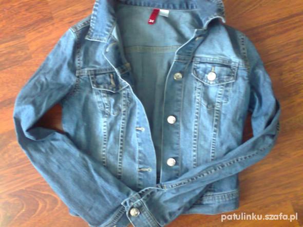 nowa kurtka jeansowa 34 hm krótka w Marynarki i żakiety