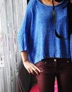 sweterek new look kobaltowy OVERSIZE...