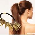 Gumka do włosów kolce złote