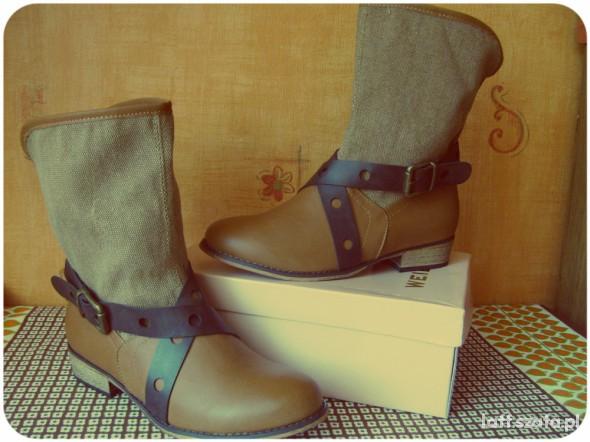 brązowe buty na jesień