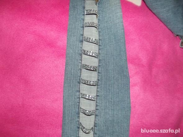 Spodnie Jeansy cyrkonie wycięcia S