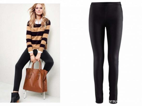 Spodnie czarne tregginsy H&M M L