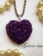 Wyjątkowa zawieszka serce fiolet