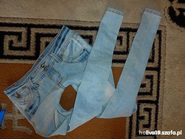 Spodnie 25zl z wysylka Mega rurki Jasny Jeans S