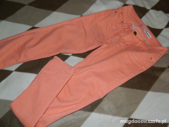 Spodnie Jeans 34 Pudrowy róż świetny naciągliwy materiał