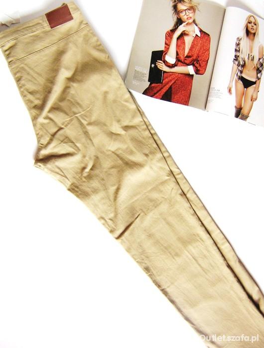 Spodnie NOWE beżowe rurki h&m 42