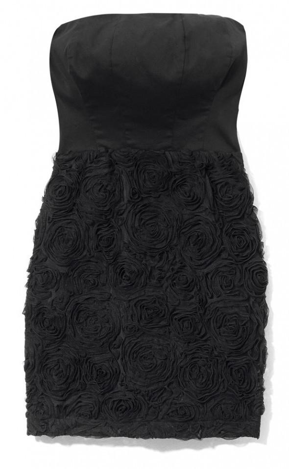 Suknie i sukienki Mohito czarna sukienka tłoczone róże