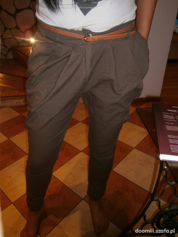 Spodnie haremki czekoladowe M