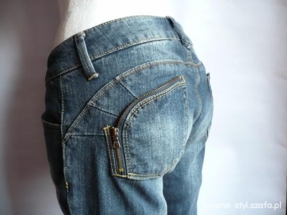 Spodnie FIRMOWE nowe JEANSY suwaki ZIP 36 S