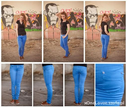 Spodnie spodnie rurki niebieskie