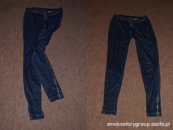 Spodnie legginsy ala jeans NEW LOOK