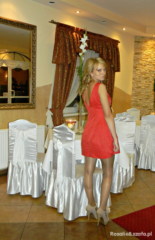 Eleganckie Red dress
