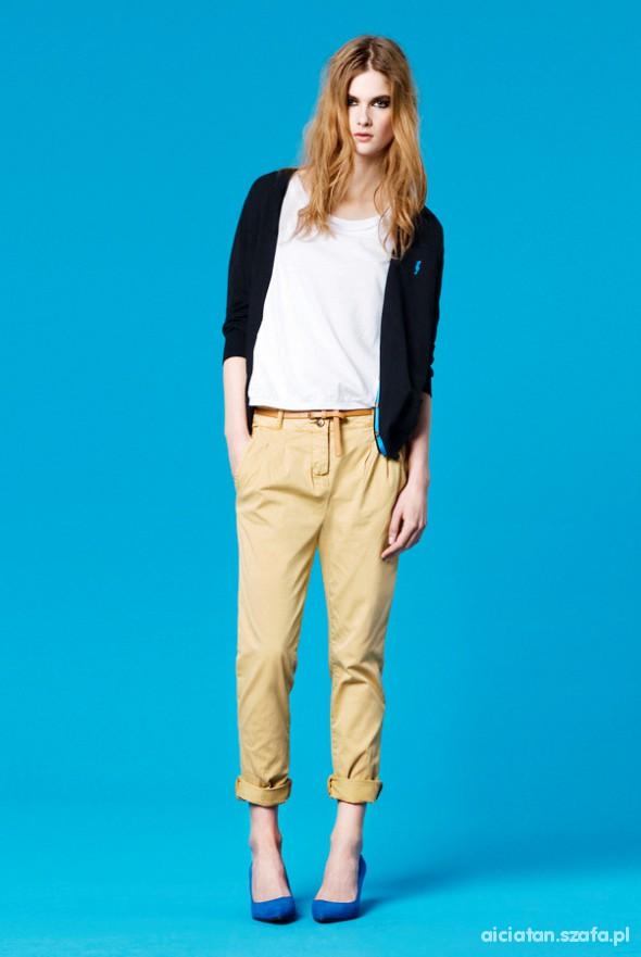 Spodnie Cygaretki ZARA beżowe XS