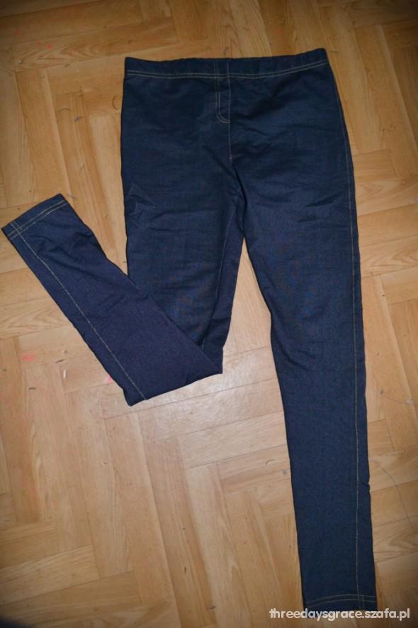 Spodnie treginsy granatowe S