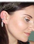 EAR CUFF nausznica z metalowym piórem piórko