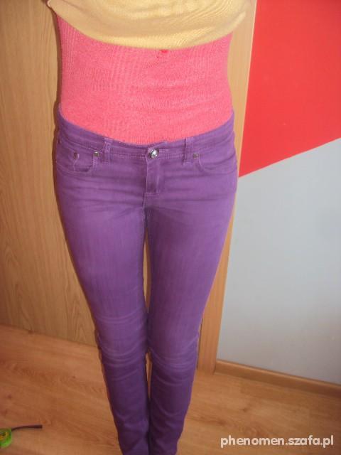 Spodnie rurki FIOLET