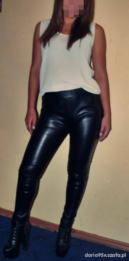Spodnie spodnie lateksowe