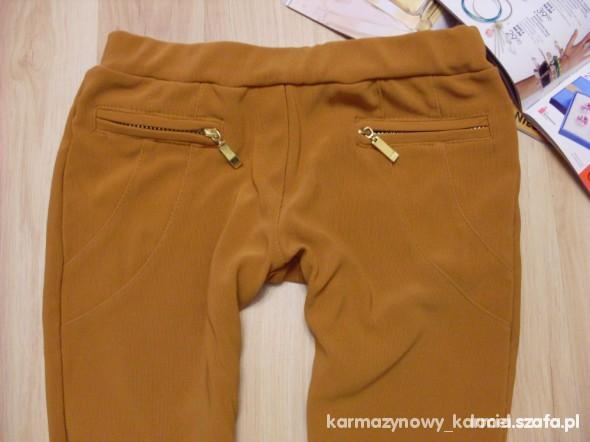 Spodnie tregginsy musztardowe