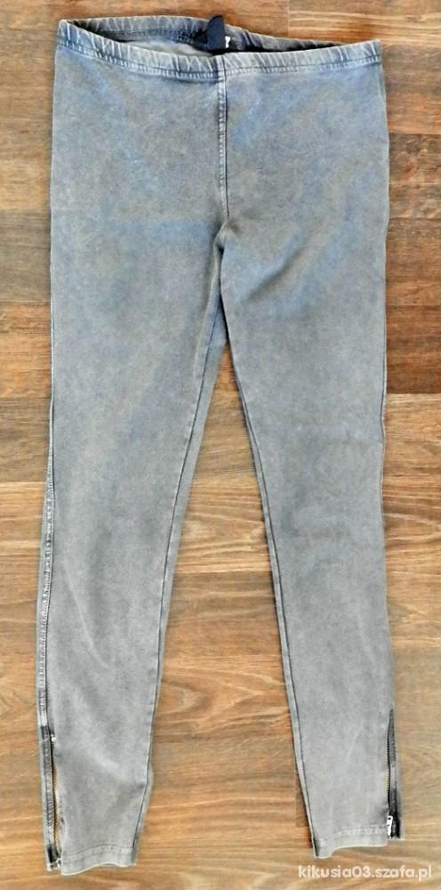 Spodnie Szare spodnie dżeginsy hm TANIO
