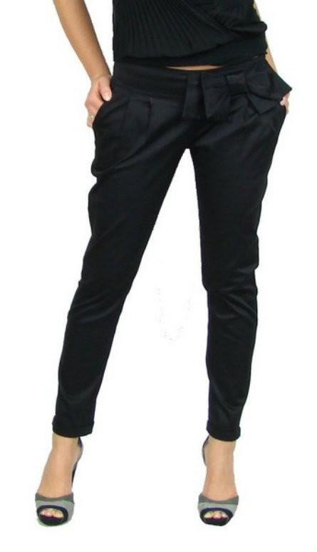 Spodnie Cygaretki HAREMKI z kokarda NOWE