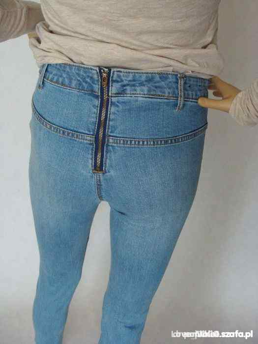 Spodnie Rurki H&M ZIPP