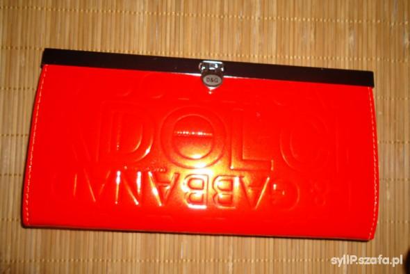 Czerwony portfel D&G replika