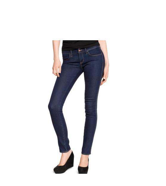 Spodnie Jeansy rurki ciemne HM