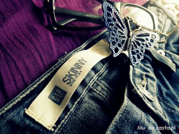 Spodnie GAP Spodnie Skinny Stretch 38 jeans
