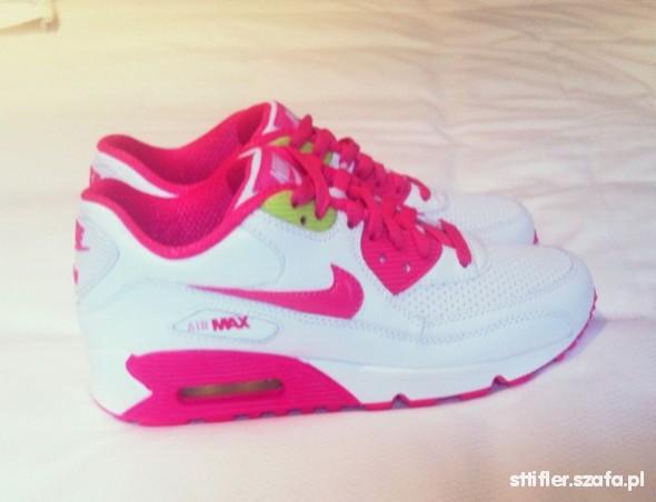 air max damskie rózowo białe