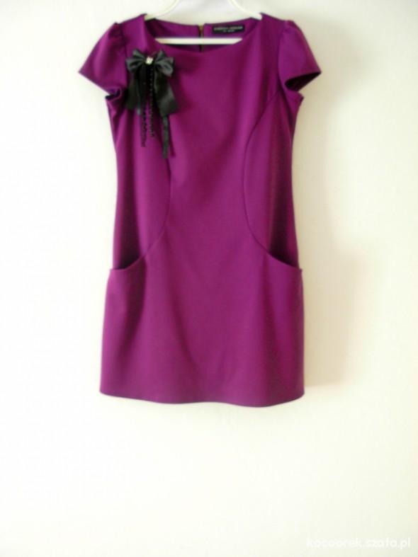 Suknie i sukienki FIOLETOWA SUKIENKA DOROTHY PERKINS