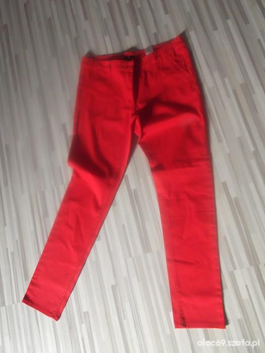 Spodnie him rurki czerwono krwiste 44