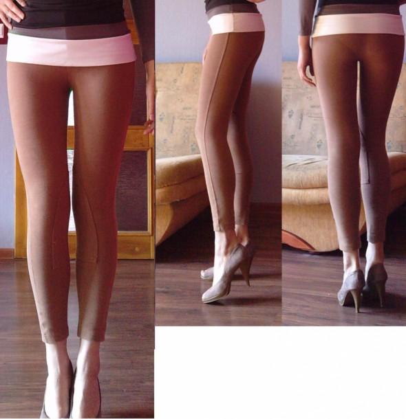 Spodnie bryczesy karmelowe
