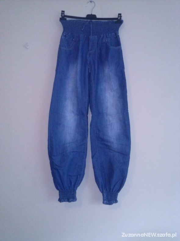 Spodnie Alladynki z cienkiego jeansu