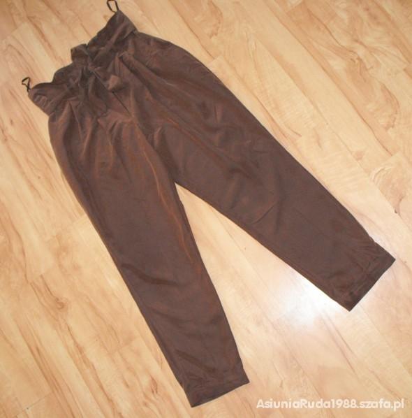 Spodnie Haremki South cygaretki 40 wysoki stan chinosy