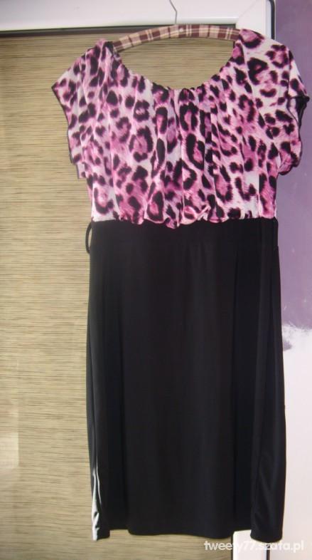 Suknie i sukienki ŚLICZNA GÓRA W PANTERKĘ L XL