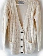 gruby sweter warkocz norweski