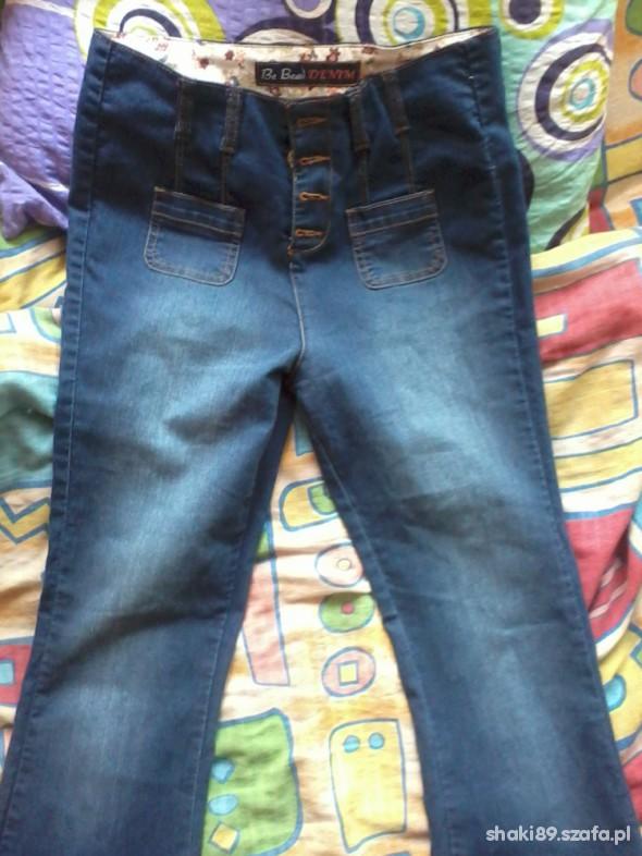 Spodnie spodnie wysoki stan