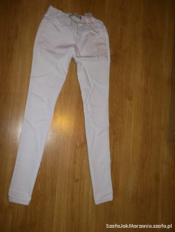 Spodnie jaśniutkie tregginsy fishbone S M