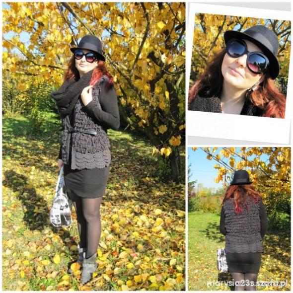 Mój styl czarny kapelusz na jesień