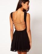 Sukienka Asos Rare Czarna i Czerwona łańcuszki
